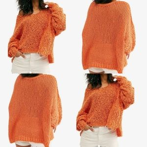 NWT Free People Coral Sands Sunday Shore Sweater